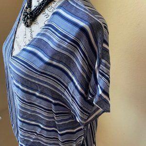 BCX striped woven shirt